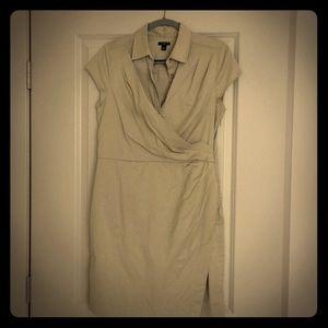 Khaki wrap dress